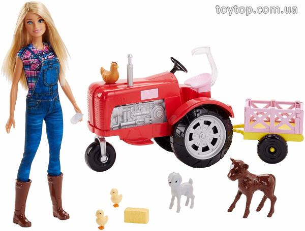 Барби фермер и трактор - Barbie Doll and Tractor
