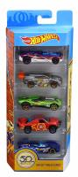 Набор машинок 5 шт. Hot Wheels 50th Anniversary Track Stars 5 Pack,