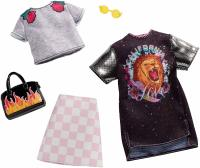 Одежда для Барби -  Barbie Checkered Rockband Tee Fashion Pack