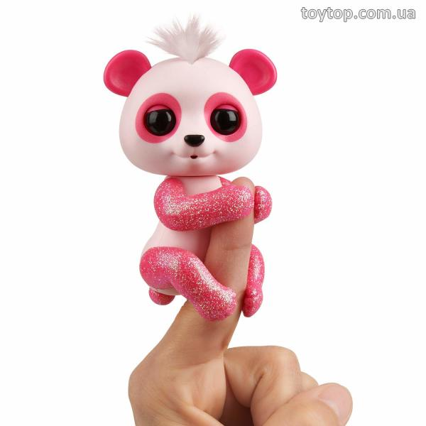 Интерактивная панда Поли- WowWee Fingerlings Glitter Panda - Polly (Pink) - Interactive Collectible Baby Pet