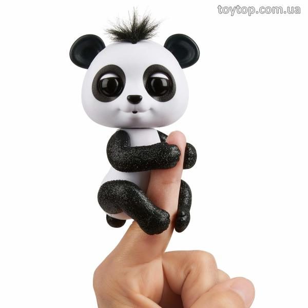 Интерактивная панда Дрю- Fingerlings Glitter Panda - Drew (White & Black) - Interactive Collectible Baby Pet