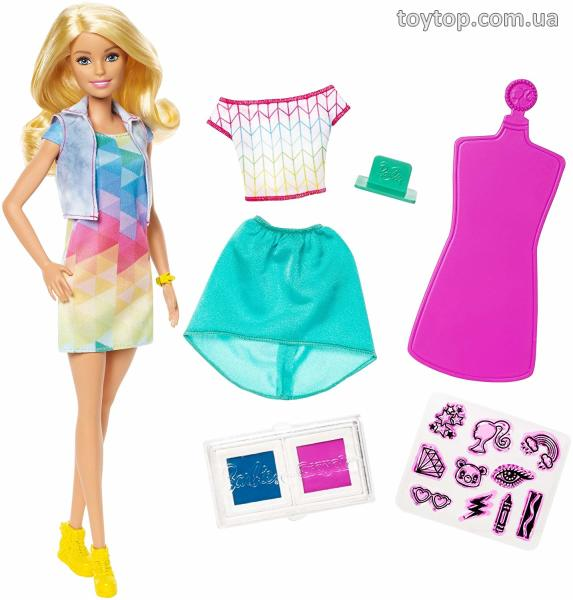 Barbie Crayola Набор цветных марок, светлый -  Barbie Crayola Color Stamp Fashions Set, Blonde