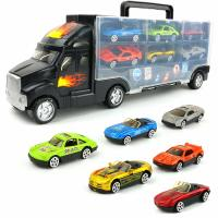 Автотрейлер + 6 авто - Big Mo's Toys Transport Car Carrier Truck - with 6 Stylish Metal Racing Cars - with Carrying Case