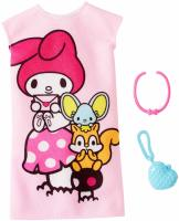 Одежда для Барби -  Barbie Hello Kitty My Melody Pink Dress Fashion Pac