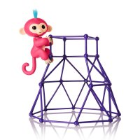Интерактивная обезьянка на игровой площадке - Fingerlings - Jungle Gym Playset + Interactive Baby Monkey Aimee (Coral Pink with Blue Hair)