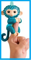Интерактивная обезьянка Глем - WowWee Fingerlings Monkeys - Fingerblings - Glam (Turquoise/Blue)