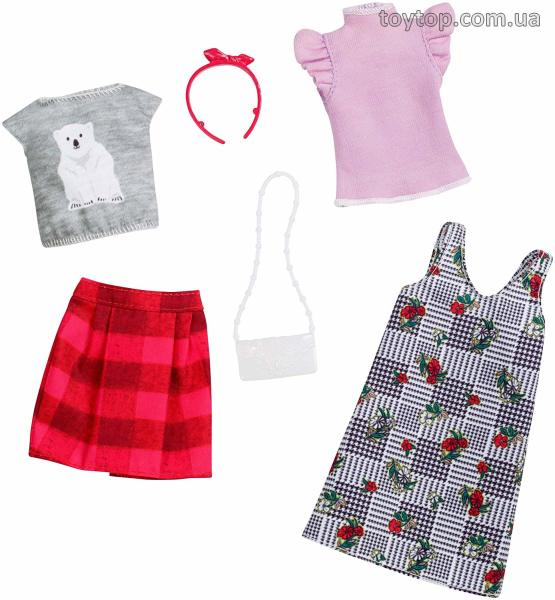Одежда для Барби - Barbie Fashion, Mix Checks and Nature,2 count