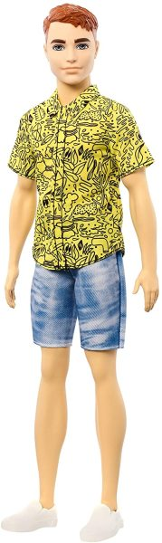Кен модник 139 - Ken Fashionistas Doll with Red Hair and Graphic Yellow Shirt