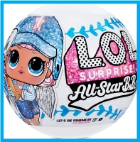 LOL Сюрприз! L.O.L. Surprise! All-Star B.B.s Sports Series 1 Baseball Sparkly Dolls with 8 Surprises