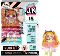 Кукла лол L.O.L. Surprise! JK Neon Q.T. Mini Fashion Doll with 15 Surprises