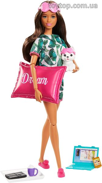 Барби Релакс - Barbie Relaxation Doll, Brunette, with Puppy and 8 Accessories