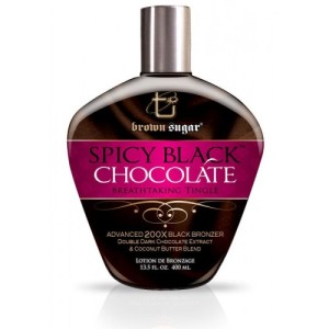 TAN Inc Крем для солярия с тинглами и бронзантами - SPICY BLACK CHOCOLATE Breathtaking Tingle 200X BLACK BRONZER 400мл