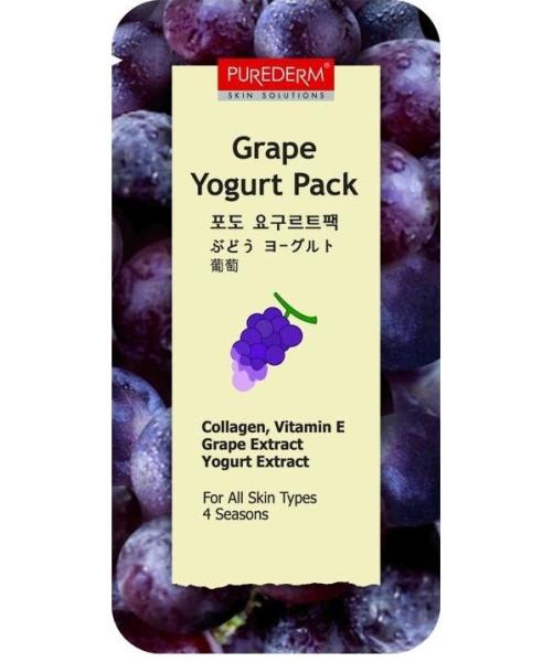Purederm Grape Yogurt Pack (Виноград)