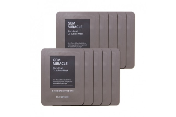 THE SAEM Gem Miracle Black Pearl O2 Bubble Mask 2ml