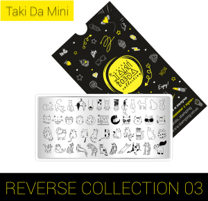Мини пластина для стемпинга TakiDa REVERSE Collection 03