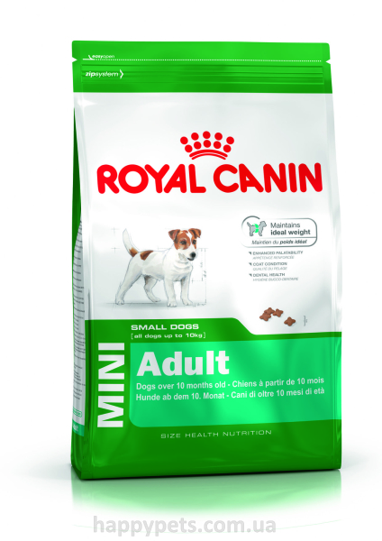 Сухой корм для собак мелких пород Royal Canin Mini Adult 8 кг.