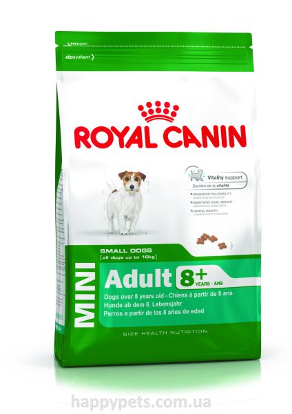 Сухой корм для пожилых собак мелких пород Royal Canin Mini Adult 8 + 2 кг.