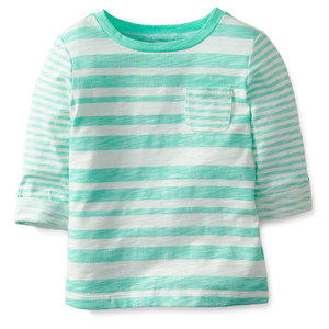 Топ Teal stripes Carter's