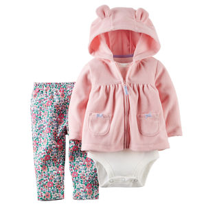 Комплект Pink and flowers Carters