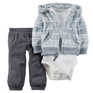 Комплект Grey Fair Isle Carters