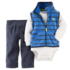 Комплект Blue and navy stripe Carters