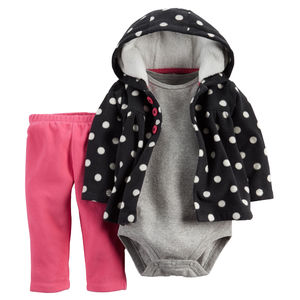 Комплект Pink, Black and dots Carters