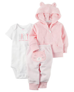 Комплект Terry pink bear Carters