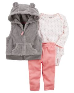 Комплект Grey plush vest Carters