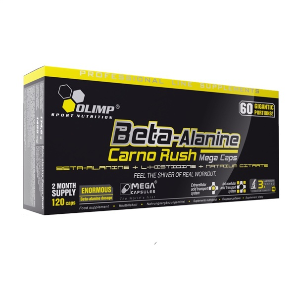 Olimp Beta-Alanine Carno Rush, 120 капс