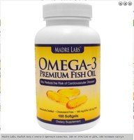 Madre Labs Omega-3 Premium Fish Oil, 100 капс