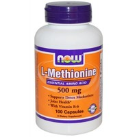 NOW L-Methionine (L-метионин), 100 капс