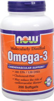 NOW Omega 3, 200 капс