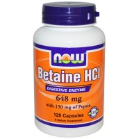 NOW Betaine HCL, 120 капс