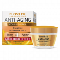 Дневной крем для лица - Floslek Anti-Aging Gold & Energy Energizing Day Cream SPF15