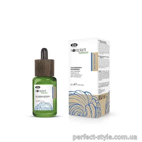 Масло против перхоти Keraplant Nature Anti-Dandruff Essential Oil Lisap, 30 мл