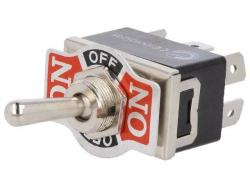 Тумблер KN3(C)-203 AP ON-OFF-ON 6p  (15A 125V  10A 250V)