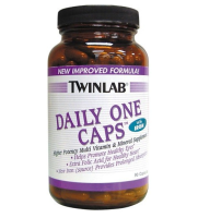 Twinlab   Daily One Multivitamin w/ Iron    60 caps.