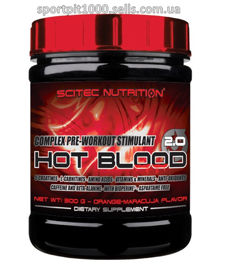 Scitec Nutrition    HOT BLOOD 3.0    300 g.