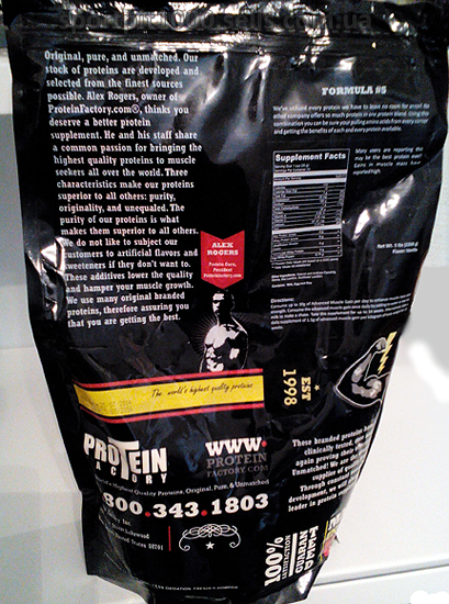 Protein Factory        Formula# 5             2270 g.- 5 lb.