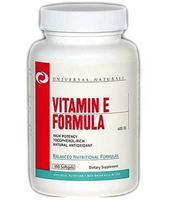 Universal Nutrition        Vitamin E Formula         100 softgels.