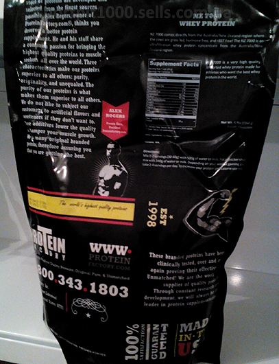 Protein Factory  NZ 7000 Whey Protein   2270 g./5 lbs.