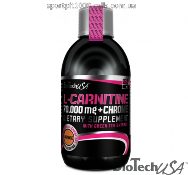 BioTech USA  L-carnitine 70.000mg + CHROME   500ml.