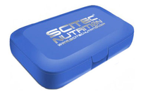 Scitec  Nutrition         Pill box         blue with Scitec logo