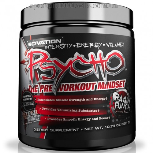 SCIVATION    PSYCHO  The Pre-Workout Mindset  306 g./10,79 oz.