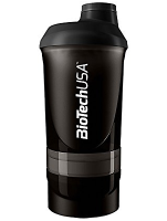 "BioTech USA   WAVE+ SHAKER  ""Panther Black"" 3 compartment"