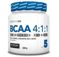 NUTRICORE          BCAA 4:1:1  (fresh fruit)     500 g.