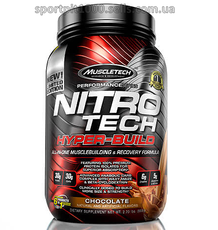 MUSCLETECH       NitroTech Hyper- Build          997 g./2.2 Lb
