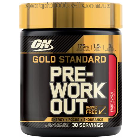 ​Optimum Nutrition Gold Standard PRE-WORKOUT  300 g./10.58 oz.