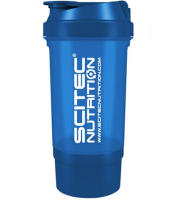 "SciTec Nutrition  SHAKER 500 Travel ""Blue"" 2 comp."