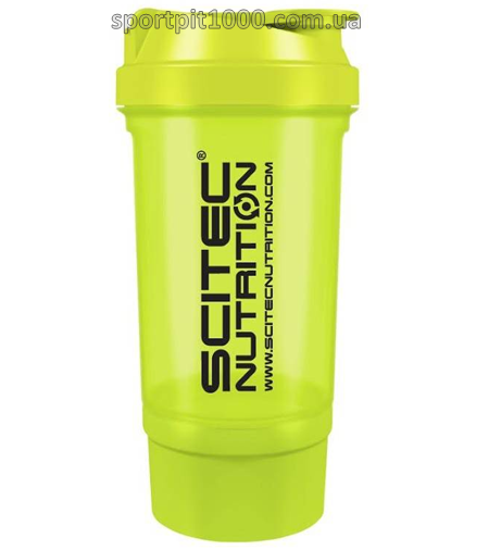 "SciTec Nutrition    SHAKER 500 Travel ""Green"" 2 comp."